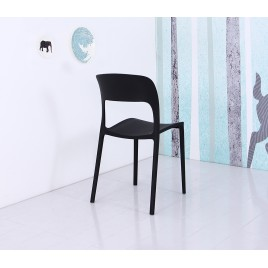 Plastic Side Chair  DC607-BK	DC607-WH	DC607-RD