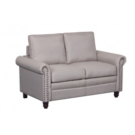 Linen Upholstered Loveseat