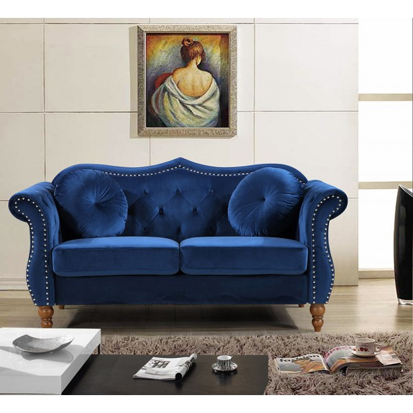 Bridges Classic Nailhead Chesterfield Loveseat  S5365-L   S5366-L   S5367-L    S5368-L