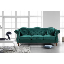 Gracewood Hollow Mantel Mid-century Nailhead Sofa