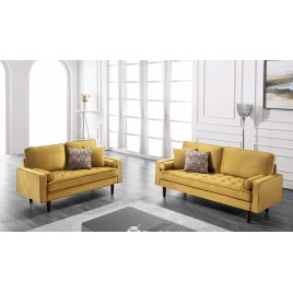 Hazen 2 Piece Velvet Living Room Set