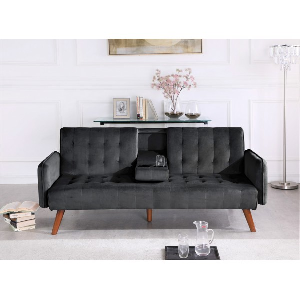 Payne Sofa Bed Sleeper with Cup Holder