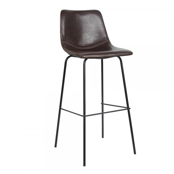 "Delatorre 31"" Bar Stool Brown (set of 4)"