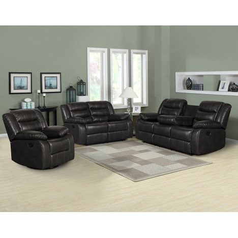 Trista Reclining 3 Piece Living Room Set