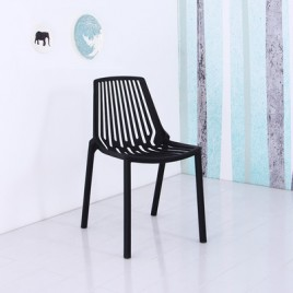 Plastic Side Chair DC605-BK  DC605-RD	DC605-GR   DC605-WH