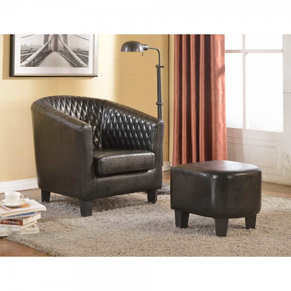 Salter Barrel Chair and Ottoman C-045
