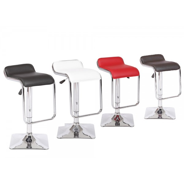 Adjustable Height Swivel Bar Stool BS8565-BK  BS8565-CH	  BS8565-RD	BS8565-WH