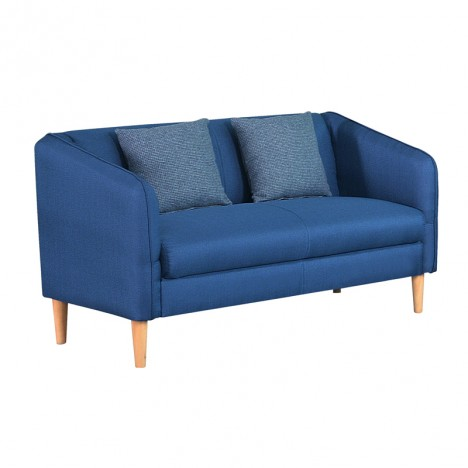 Love Seat Linen fabric Blue color