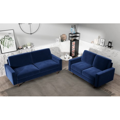 Ross Modern Velvet Living room set- Sofa and Loveseat