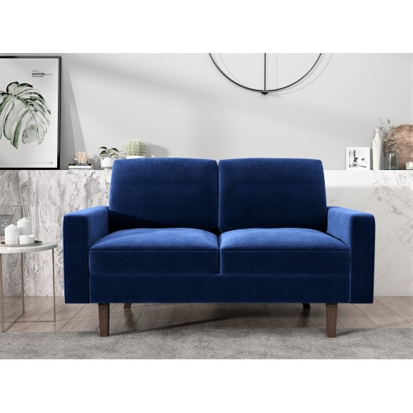 Ross Modern Velvet 2 Seater Loveseat