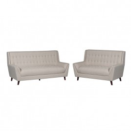 3 Piece Fabric Sofa and Loveseat Set
