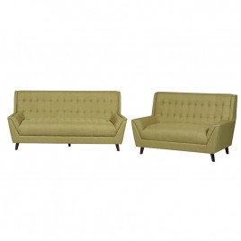 2 Piece Fabric Sofa and Loveseat Set